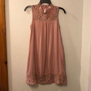 Xhilaration Target Sleeveless dress with lace.